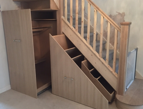 Oak Staircase with Storage